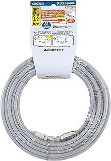 日本アンテナ テレビ配線ケーブル S5CFB 20m 片側防水接栓加工済 (グレー) S5CFB20N