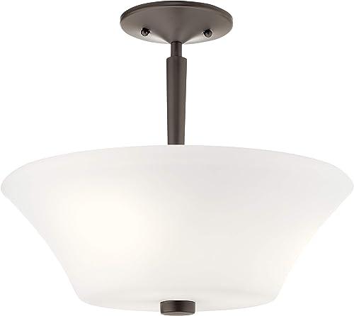 popular Kichler 43669OZ lowest Three Light Semi Flush online Mount outlet sale