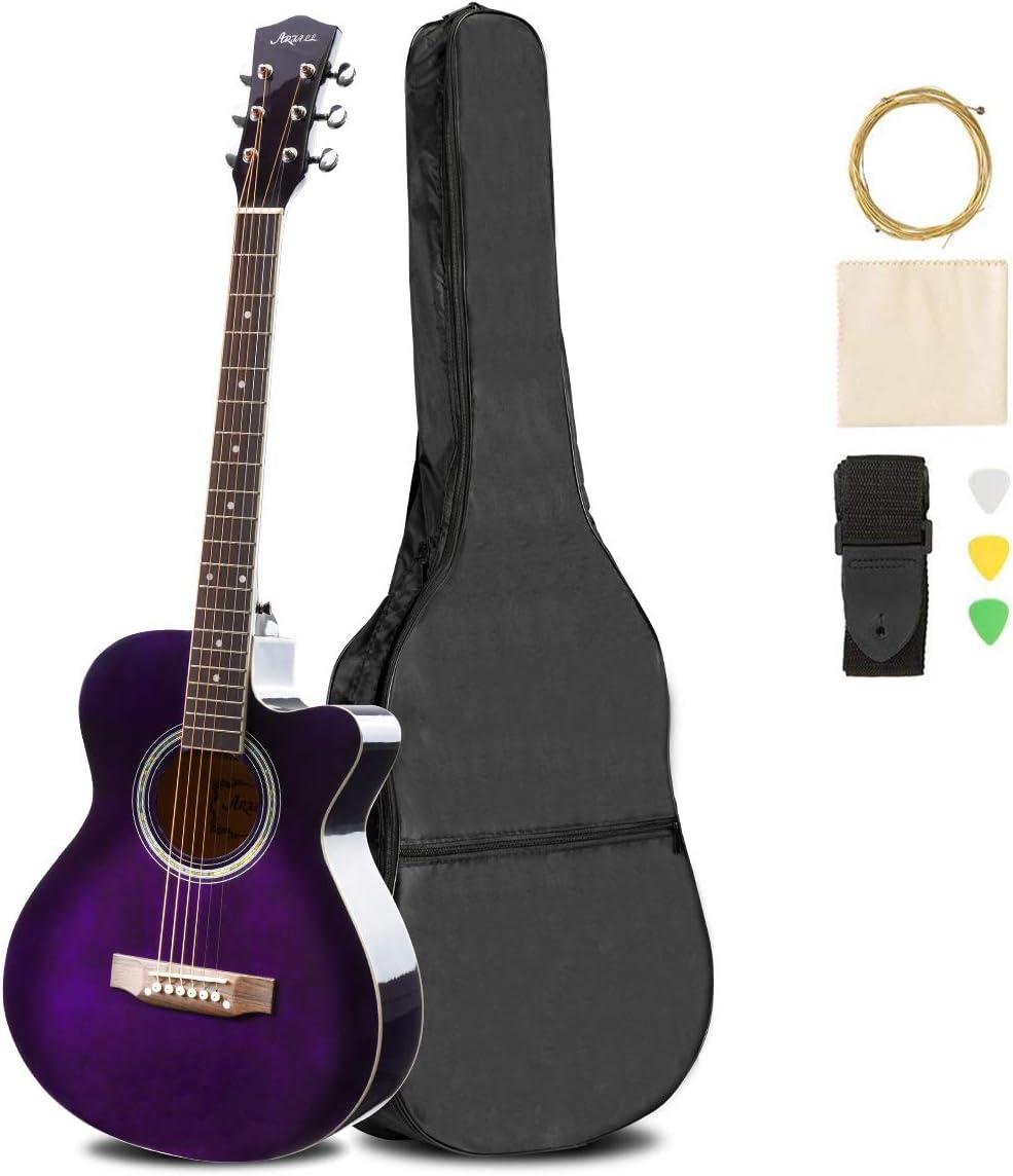 ARTALL Outlet SALE 39 Superlatite Inch Handmade Solid Begin Cutaway Guitar Acoustic Wood