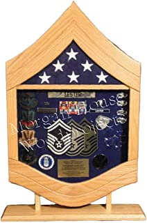 E-8 Air Force Senior Master Sergeant (SMSgt) Shadow Box/Retirement Display