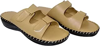 saanvishubh Pure Leather Doctor Sole Slippers for Girls and Women