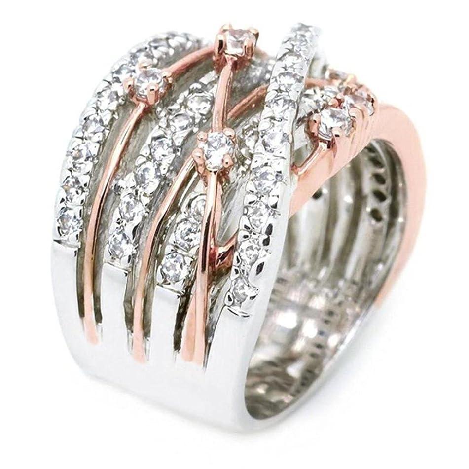 Gyoume Women Elegant Exquisite Diamond Ring Gift Friendship Love Jewelry Ring