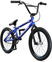 Mongoose Title Pro BMX Race Bike for Beginner to Intermediate Riders, Featuring Lightweight Tectonic T1 Aluminum Frame and Internal Cable Routing with 20-Inch Wheels, Blue