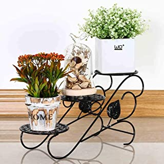 Plant Stand Iron Art Metal Potted Plant Living Room Balcony Outdoor Green Radish Plant Stand Storage Finishing Rack Color Bookshelf,Orange Patio, Lawn & Garden Plant Container Accessories