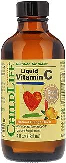 Childlife Essentials Liquid Vitamin C Natural Orange Flavor Liquid Formula, 4 ounce