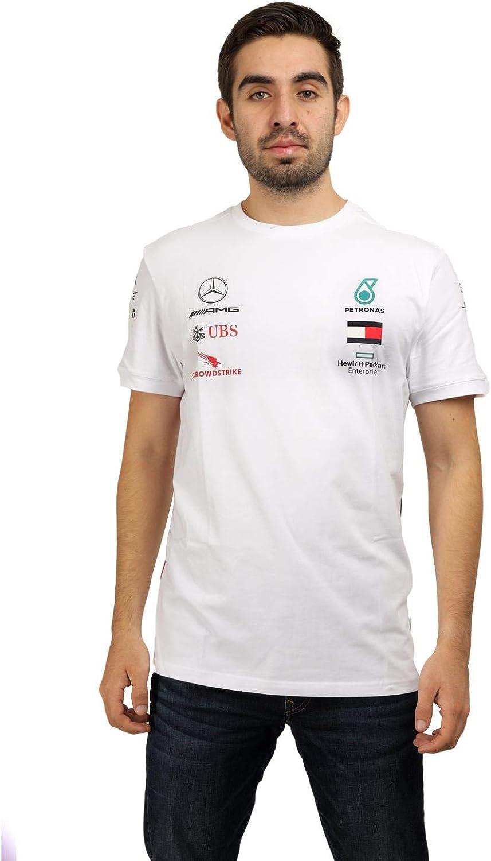 MERCEDES AMG PETRONAS Mercedes Amg Logo Tee White S T-Shirt Blanc Small Homme