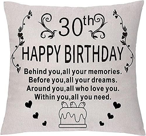 Fundas de almohada inspiradoras para cumpleaños, regalo del día del nacimiento antes de ti todos tus sueños alrededor de ti todos los que te aman (18 a 30 años)