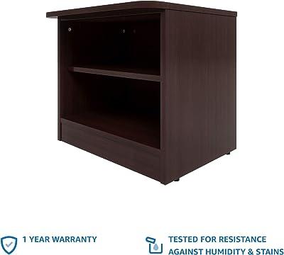 Amazon Brand - Solimo Polaris Engineered Wood Bed Side Table (Walnut Finish)