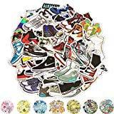 Vinyl Stickers, Cool Laptop Sticker 50 Packs, Christmas Water Bottles Stickers for Adult Women Teens Girls Boys Hippie Graffiti Bomb Pack Stickers Trendy Stickers for Laptop Hydro Flask Skateboard (Sneakers)
