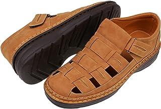 CREPUSCOLO Men's Fishermen Sandal Summer Outdoor Beach Sandals Shoes Closed Toe