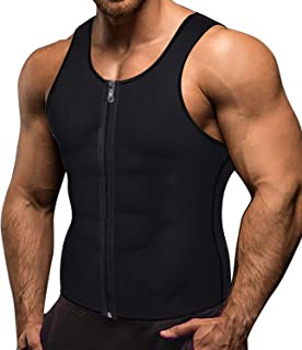 Memoryee Men Sauna Sweat Zipper Vest per Perdere Peso Hot Corsetto in Neoprene Vita Trainer Body Top Shapewear Slimming Sh...