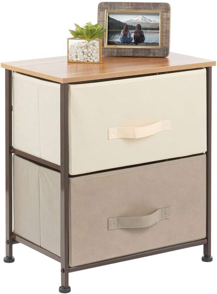 Max 43% OFF mDesign End Table Inventory cleanup selling sale Night Stand Storage Frame - Steel Tower Sturdy