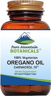 Wild Oregano Oil Capsules - 60 Vegan Caps – Now with 510mg Mediterranean Oil of Oregano