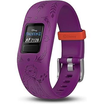 Garmin vivofit jr. 2, Kids Fitness/Activity Tracker, 1-Year Battery Life, Adjustable Band, Disney Frozen 2, Anna, Purple