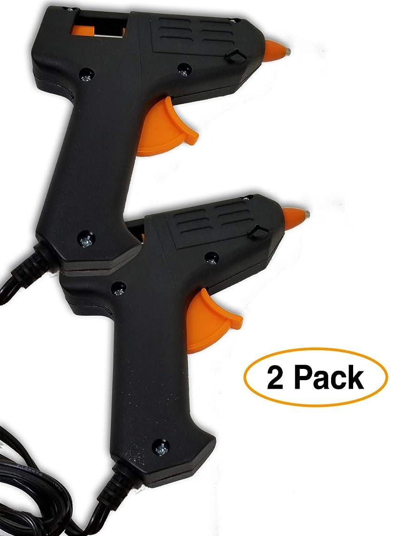 Hot Melt Mini Glue Gun (2 Pack) for Arts & Crafts, Schools & Repairs