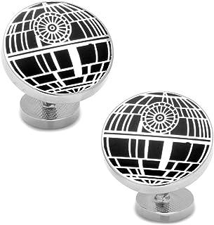 Star Wars Men's Recessed Matte Death Star Cufflinks (SW-DS-SL)