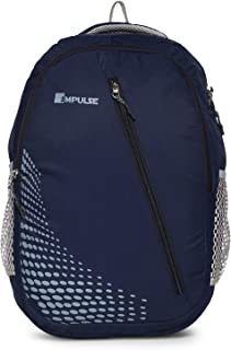 Impulse Waterproof Travelling Casual Backpack Series 45.7 cms Blue Dancing Dot with laptop compartment