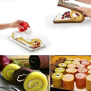 WYZXR Tapis de Cuisson de Rouleau de gâteau, pochoirs de gâteau Souples Flexibles antiadhésifs Rouleau Outils de Cuisson d...