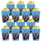 Qemsele Bolsas de Palomitas de maíz, 30 Cajas de Palomitas de maíz contenedores de Palomitas de maíz para Fiestas de cumpleaños, Noches de Cine, Carnaval, Teatro y Regalos de Fiesta(Avengers)