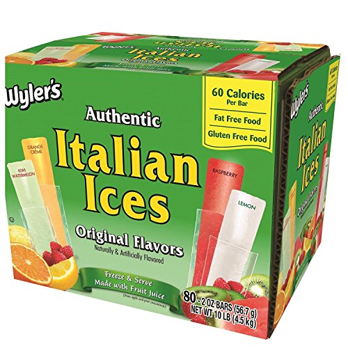 Wyler's Italian Ice Freezer Bar, 2 oz, 80...