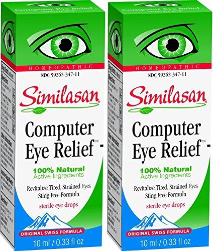 Similasan Computer Eye Relief Eye Drops, 0.33 Fluid Ounce (2 Pack)