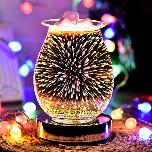 SETSCZY 3D Aromatherapy Lamp Night Light Electric Essential Oil Burner Touch Sensitive Diffuser Machine Light Scents For Home Office Yoga SPA Bedroom Decoration