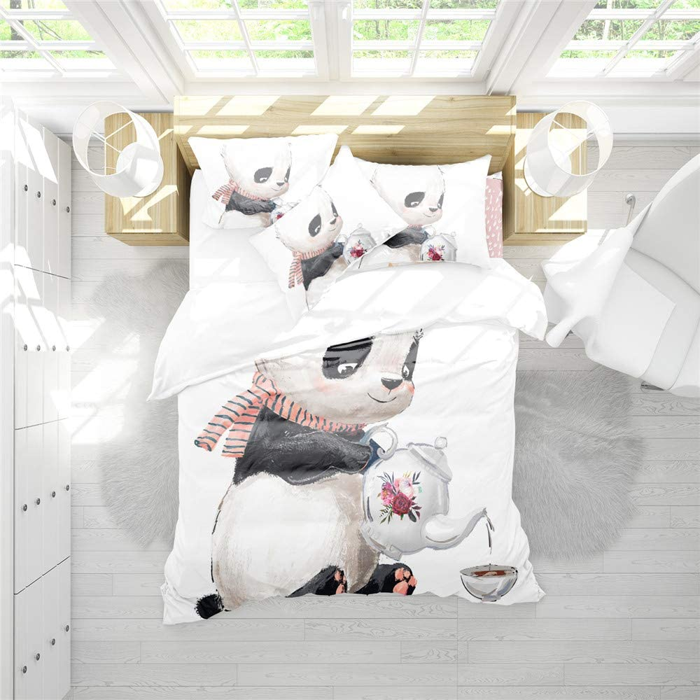 RIXI Fort Worth Mall Chinese Style Panda Duvet Bedding Cartoon Super sale period limited Set Cover Animals