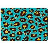 Antideslizante Alfombra De Baño,Vector de patrón de Leopardo Transparente,Alfombra de Cocina Alfombra Mascota,Alfombras de Ducha 80x60cm