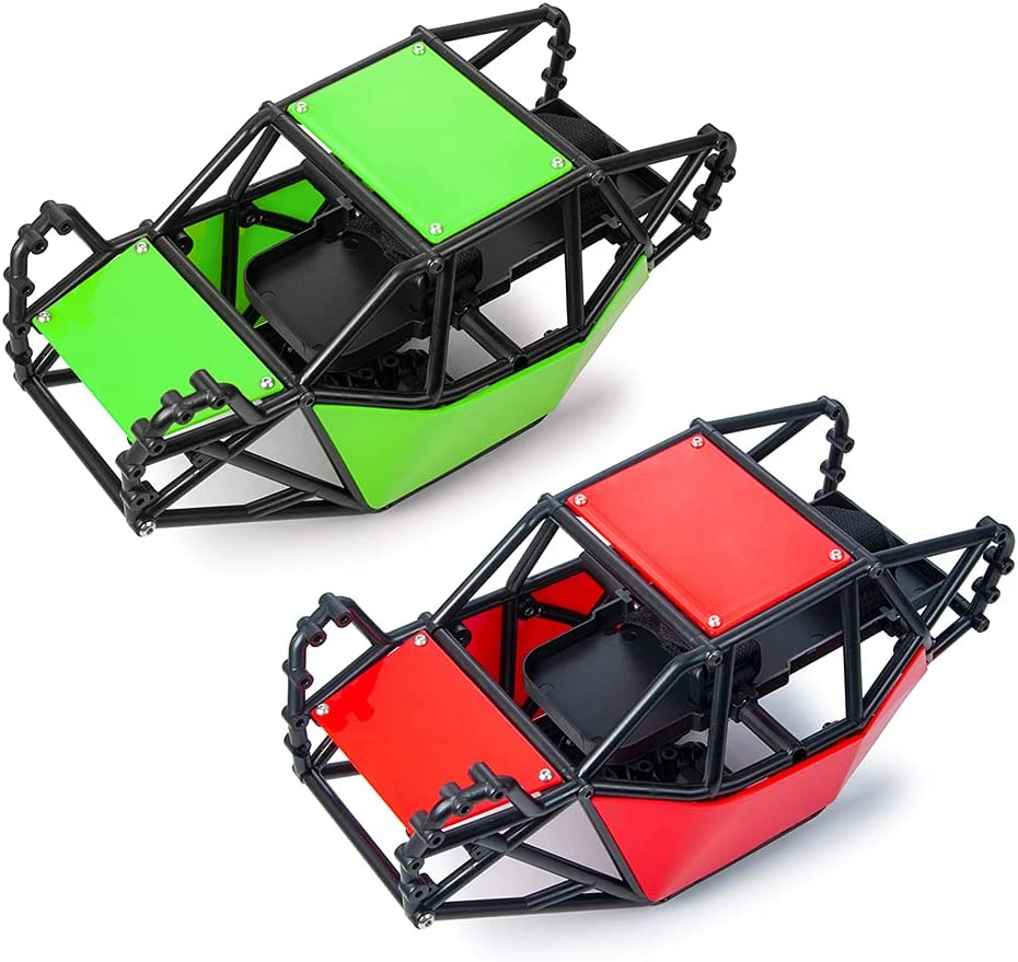 Direct stock discount Nylon Roll Jacksonville Mall Cage Body Shell Set for 10 I RC Axial SCX10 Crawler 1