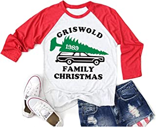 Christmas Vacation Shirt Women Griswold Family Funny Shirts for Women