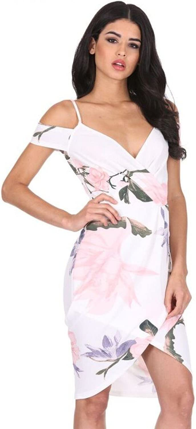 AxParis AX Paris Women's Floral Bodycon Wrap Dress