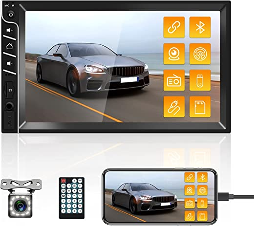 """Double Din Car Stereo Bluetooth Car Radio with 7""""HD Touch Screen Car MP5 Player FM Radio Receiver Support Rear View Camera Input SWC Mirror Link..."""