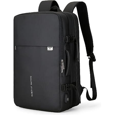 Muzee Handgepäck Rucksack 25L-40L zum Mitnehmen Wasserdichter Laptop-Wochenendrucksack für 15,6/17,3-Zoll-Laptops, Diebstahlschutz, fluggeprüfter Rucksack, Handgepäckrucksack für Wochenendtrips