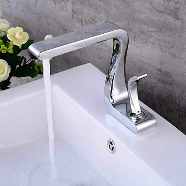Zeitgenssisches Centerset Vorspülwasserfall weit verbreitet mit Keramikventil Einhandgriff Ein Loch für Chrome, Waschbecken Wasserhahn