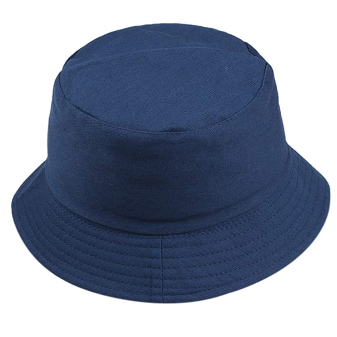 Togethor Unisex Fisherman Hat Fashion Wild Sun Protection Cap Outdoors Roll-up Wide Brim Dome Straw Summer