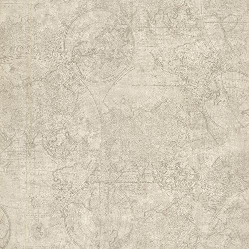 BHF 2604-21240 Cartografie Fog Vintage Wereldkaart Behang