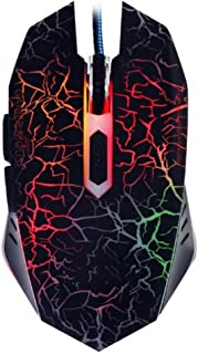 Gaming Mouse,Wired Mouse,Ergonomic Led Mouse,Cool Mouse for Laptop PC Computer Gamer (Type1-Black)
