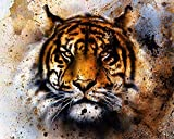 Tiger Abstract 504 Piece Jigsaw Puzzle 16' X 20'