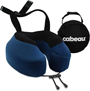 Cabeau Evolution S3 Travel Pillow - Straps to Airplane Seat - Ensures Your Head Won't Fall Forward - Relax with Plush Memo...