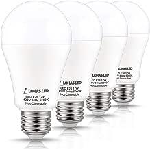 LOHAS A19 LED Bulb 150W Equivalent(UL Listed), 17 Watt Daylight White 5000K LED, 1600 Lumen Energy-Efficient Light Bulb, E26 Medium Base for Living Room, Kitchen, Bedroom, Non-Dimmable, 4 Pack