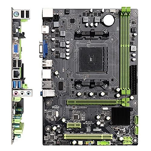 Wessia Placa Base de computadora A88 M-ATX DDR3 de Doble Canal 16G USB 2.0/3.0 SATA Soporte de Placa Base para CPU de la Serie Intel...