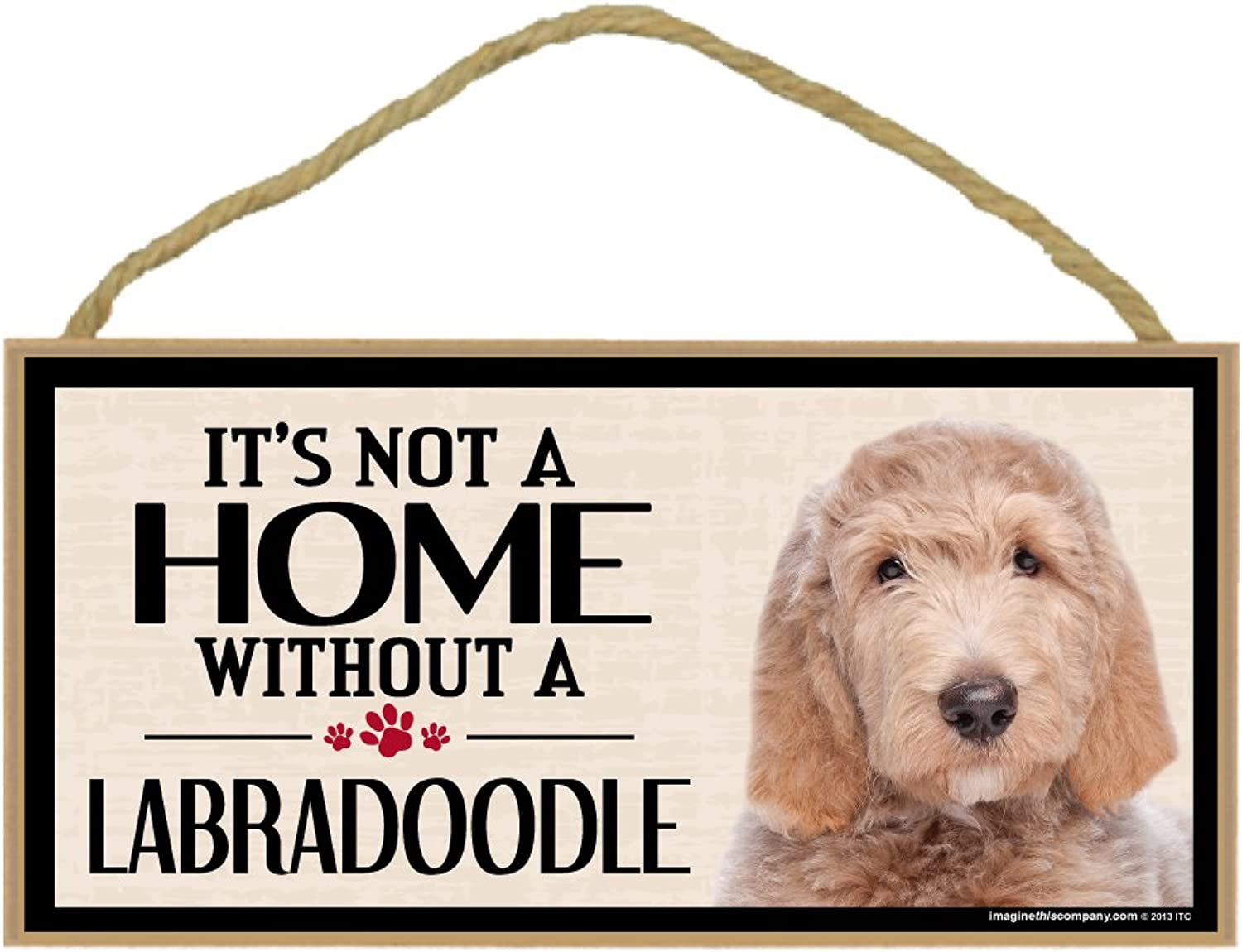 Imagine This Wood Breed Sign, It's All About My Labra Doodle