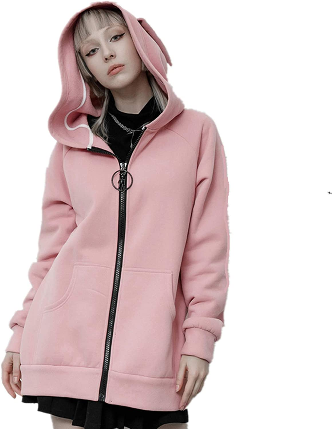 At the price PUNKRAVE Women's Dark Ranking TOP18 Rabbit Print Gaothic Coat Cute Loose Daily