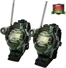 MALENOO Kids Walkie Talkies, Two-Way Radios Walky Talky for Children, Cool Outdoor Toys Gifts for Girls/Boys, Camouflage (Pair)