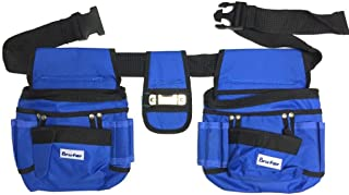 BRUFER 210412 Multi-tool Pouch Belt Tool Holder Organizer for Tools with 26 Pockets, 2 Hammer Loops and 1 Measuring Tape Holder