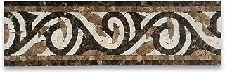Garden Emperador 4.7x15.7 Marble Mosaic Border Listello Tile Polished