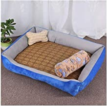 ZRL77y Pet Dog Bed Soft Material Pet Dog Fall and Winter Warm Nest Kennel for Cat Warming Dog House (Color : Blue, Size : ...