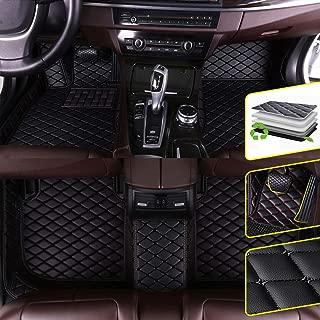 DBL Custom Car Floor Mats for Volkswagen Touareg 2019 Waterproof Non-Slip Leather Carpets Automotive Interior Accessories 1 Set Black