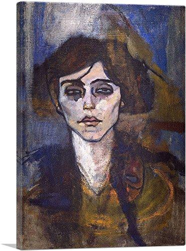 "ARTCANVAS Portrait of Maude Abrantes 1907 Canvas Art Print by Amedeo Modigliani - 18"" x 12"" (1.50"" Deep)"