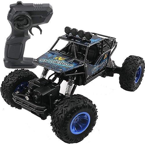 bienvenido a elegir PETRLOY negro Escala 1 1 1 14 Escalada robusta Carreras Aficiones Juguetes Vehículos 2.4GHz Control remoto electróNiño Vehículo Carga USB Deriva de alta velocidad Monster Truck para Niños, niñas y adultos  marca de lujo